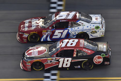 Ryan Preece, Joe Gibbs Racing, Toyota Camry Rheem, Jeremy Clements, Jeremy Clements Racing, Chevrolet Camaro RepairableVehicles.com