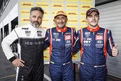 Top 3 after Qualifying 1: Gabriele Tarquini, BRC Racing Team Hyundai i30 N TCR, Yvan Muller, YMR Hyundai i30 N TCR, Norbert Michelisz, BRC Racing Team Hyundai i30 N TCR