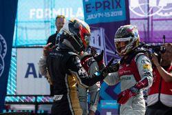 Jean-Eric Vergne, Techeetah, wins, Lucas di Grassi, Audi Sport ABT Schaeffler, Daniel Abt, Audi Sport ABT Schaeffler
