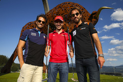Jean-Eric Vergne, G-Drive Racing, Felipe Nasr, Cetilar Villorba Corse and Miguel Molina, JMW Motorsport take part in the ELMS Putting Challenge