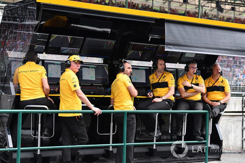 El muro del equipo Renault Sport F1