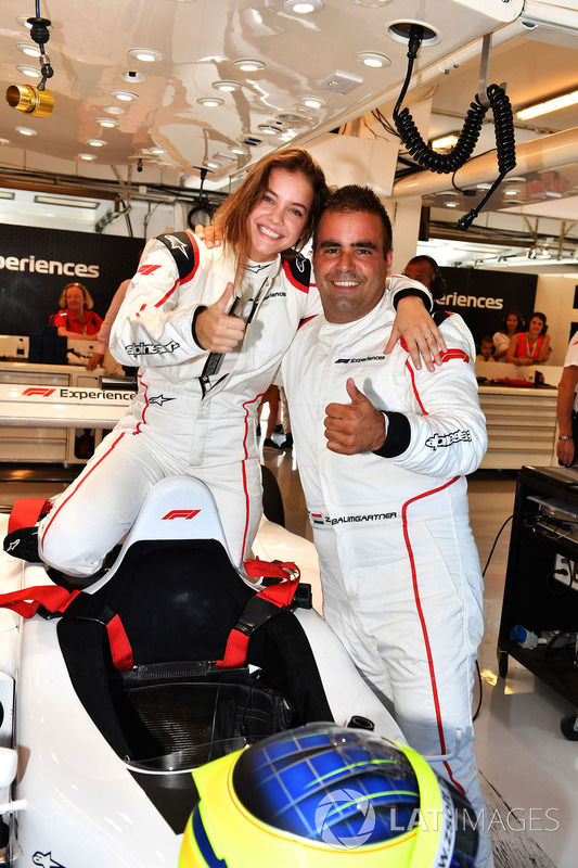 Zsolt Baumgartner, F1 Experiences 2-Seater driver and F1 Experiences 2-Seater passenger Barbara Palvin