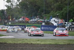 Matias Rossi, Donto Racing Chevrolet, Christian Ledesma, Jet Racing Chevrolet, Juan Manuel Silva, Ca