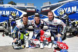 Yamaha-Fahrer Michael Metge, Olivier Pain, Alessandro Botturi