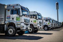 X-Raid Mini team support trucks