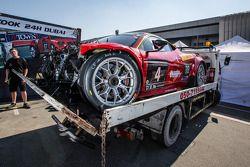 #4 Scuderia Praha Ferrari 458 Italia GT3 depois de um grave acidente