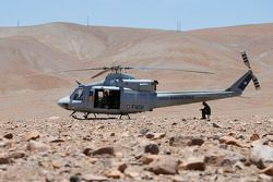 Un helicóptero espera