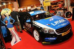 The unveiling of Aiden Moffats Laser Tools Racing BTCC Mercedes