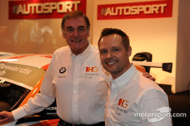 Andy Priaulx con il capo del WSR Team Dick Bennetts