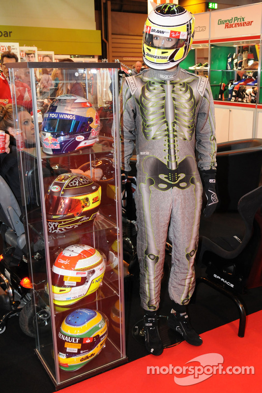 Race Helmits/ Suit on display