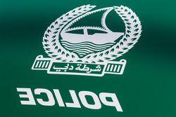 Detalhes de carros de polícias exóticos de Dubai em exposição