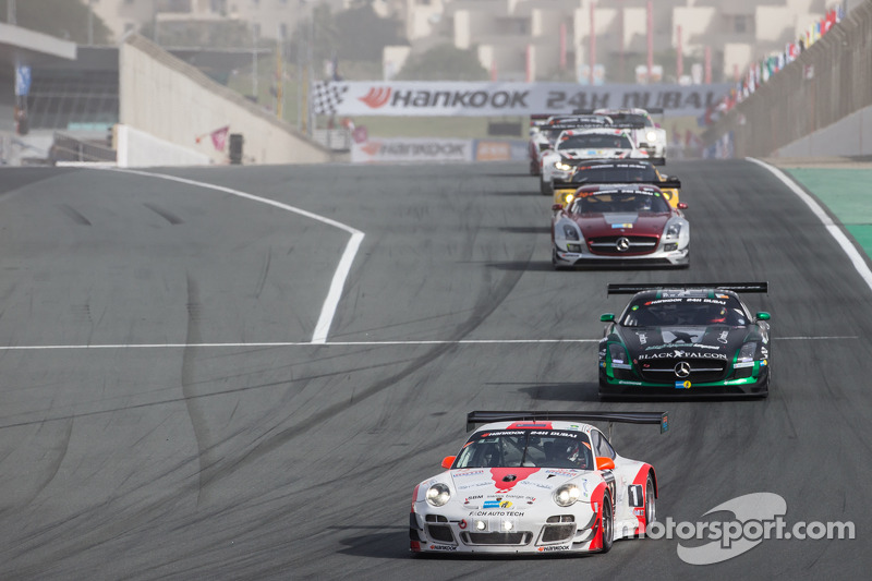 #12 Fach Auto Tech Porsche 997 GT3 R: Otto Klohs, Martin Ragginger, Jens Richter, Sven Müller conduc