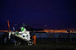 Helicoptero espera al inicio