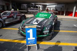 Winning car: #2 Black Falcon Mercedes SLS AMG GT3