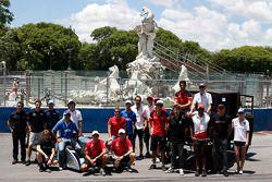 Fahrer-Gruppenfoto