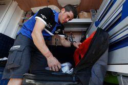 Olivier Pain am Motorrad-Ruhetag