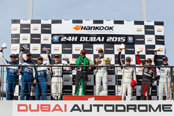 A6-Pro podium: class winners Abdulaziz Al Faisal and Yelmer Buurman, second place Cheerag Arya, Thomas Jäger, Tom Onslow-Cole, Adam Christodoulou, third place Paul White, Stefan Mücke, Jonny Adam