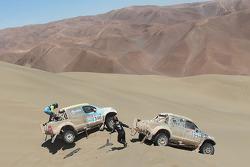 #340 Toyota: Bauyrzhan Issabayev, Vladimir Demyanenko, #339 Toyota: Benediktas Vanagas, Andrei Rudnitski