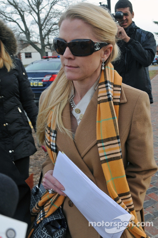 Patricia Driscoll leaves the Kent County family courthouse after a hearing regarding assault charges