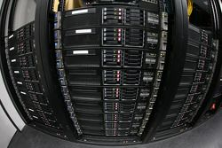 Servers used to process the information from cameras and sensors on pit road
