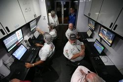 Monitors convey information from pit road to NASCAR officials