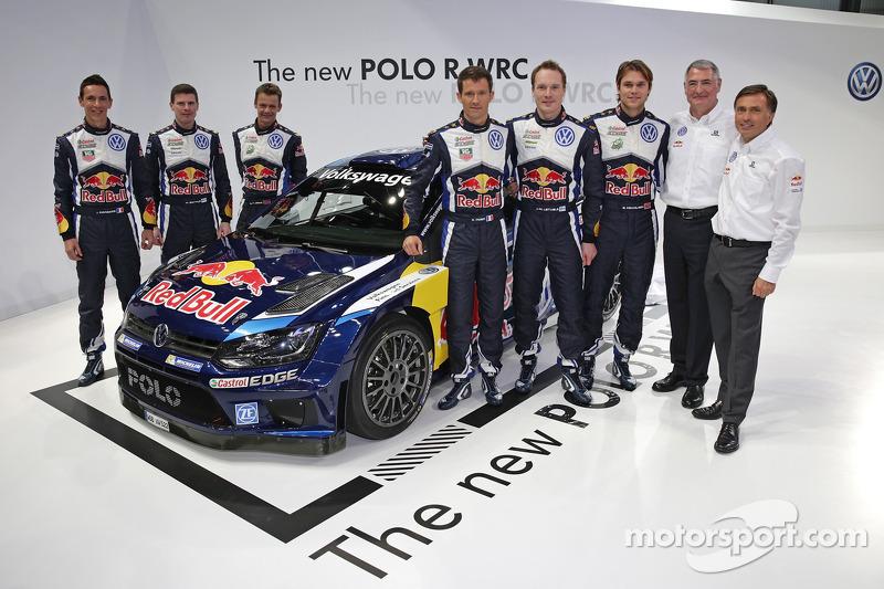 Der Volkswagen Polo R 2015 mit Sébastien Ogier, Julien Ingrassia, Jari-Matti Latvala, Miikka Anttila