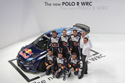 2015 Volkswagen Polo R com Sébastien Ogier, Julien Ingrassia, Jari-Matti Latvala, Miikka Anttila, An
