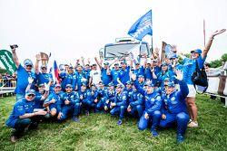 Kamaz Master team viert overwinning in de truck-klasse