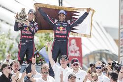 Podium Auto : Vainqueurs : Nasser Al-Attiyah, Mathieu Baumel