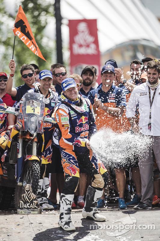 Pódio da Categoria Moto: vencedor Marc Coma