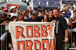 Robby Gordon with fans