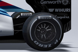 Detail of the new Williams FW37