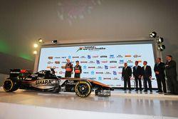 (Von links nach rechts): Nico Hülkenberg, Sahara Force India F1, und Sergio Perez, Sahara Force Indi