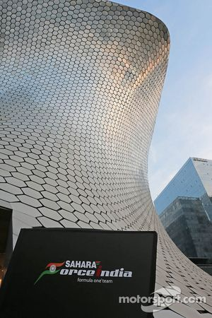 The Soumaya Museum - venue for the 2015 Sahara Force India F1 Team livery reveal