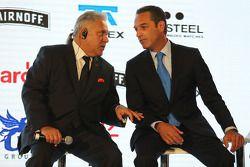 (L to R): Dr. Vijay Mallya, dueño del Sahara Force India F1 Team con Carlos Slim, Directivo de Améri