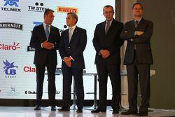 (L to R): Carlos Slim,empresario; Miguel Ángel Mancera, Jefe de Gobierno de la Ciudad de México; Fra