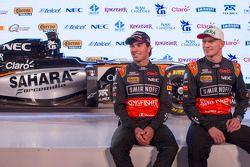 Sergio Pérez y Nico Hulkenberg, del Sahara Force India F1