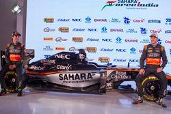 Sergio Perez und Nico Hülkenberg, Sahara Force India F1