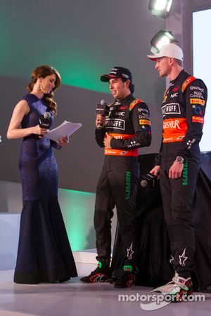 Sergio Perez and Nico Hulkenberg, Sahara Force India F1