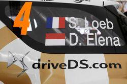 Sébastien Loeb y Daniel Elena, con el Citroën DS3 WRC, del Citroën Total Abu Dhabi World Rally Team