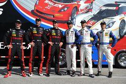 Action Express Racing-coureurs Dane Cameron, Max Papis, Eric Curran, Christian Fittipaldi, Joao Barb