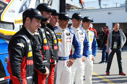 Pilotos del Action Express Racing, Dane Cameron, Max Papis, Eric Curran, Christian Fittipaldi, Joao