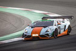 #69 Gulf Racing UK Lamborghini Gallardo LP560 GT3: Roald Goethe, Stuart Hall, Frédéric Fatien, Jamie Campbell-Walter