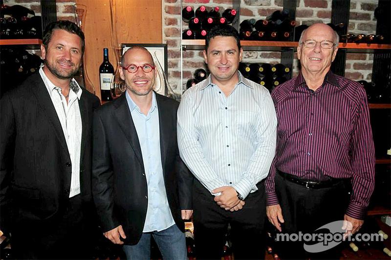 Die Gründer von Area 27, Trevor Seibert, Jacques Villeneuve, Bill Drossos und David King bei der Erö