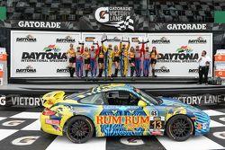 #6 Stevenson Motorsports Camaro Z/28.R: Robin Liddell, Andrew Davis, #13 Rum Bum Racing Porsche 997: Matt Plumb, Hugh Plumb and #9 Stevenson Motorsports Camaro Z/28.R: Lawson Aschenbach, Matt Bell