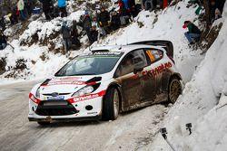 Henning Solberg und Ilka Minor, Ford Fiesta WRC