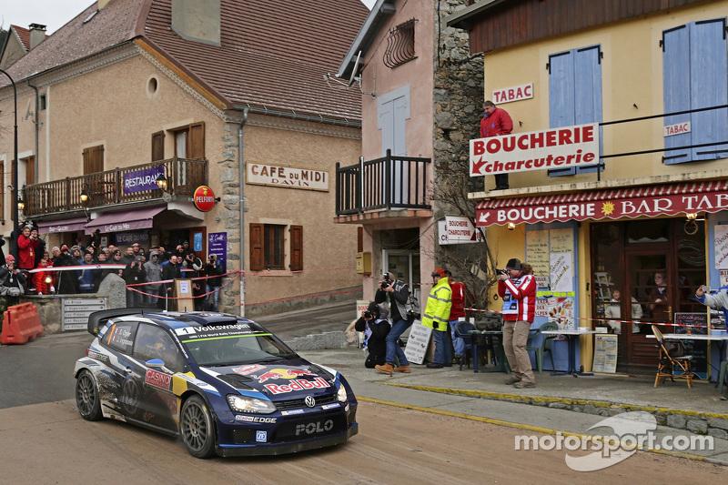 Sébastien Ogier y Julien Ingrassia, en su Volkswagen Polo WRC, de Volkswagen Motorsport