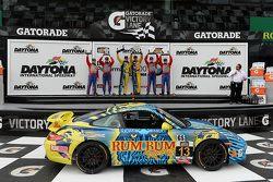 GS podium: race winners Matt Plumb, Hugh Plumb, second place Lawson Aschenbach, Matt Bell, third pla