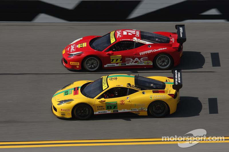 #87 Ferrari of San Diego, Ferrari 458: Rich Baek und #777 Ferrari Québec, Ferrari 458TP: Emmanuel An