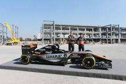 Nico Hulkenberg, Sahara Force India F1 ve takım arkadaşı Sergio Perez, Sahara Force India F1